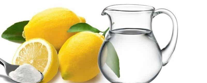 baking soda lemon and water