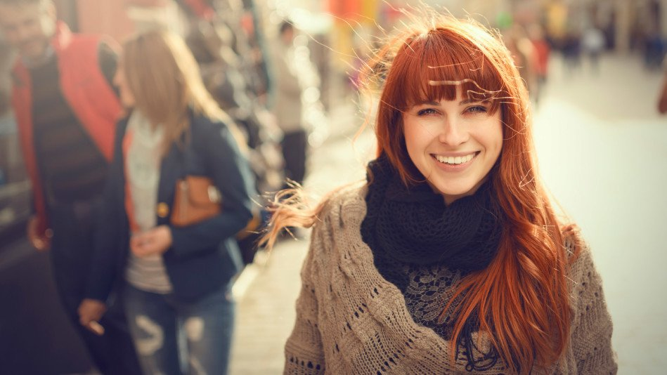 srećna žena